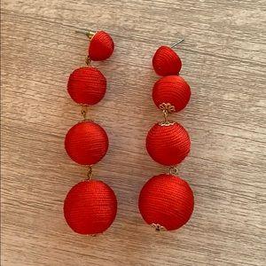 Jewelry - Red Ball Drop Earrings